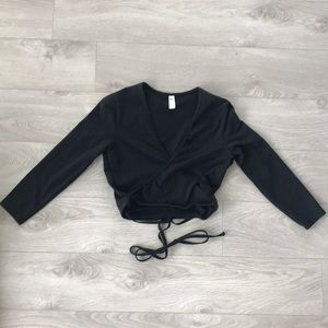 American Apparel wrap crop top